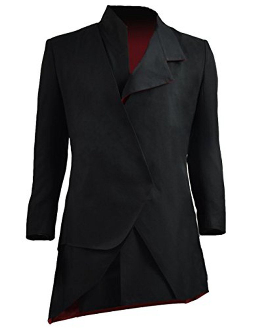 Men Slim Fit Suit Doctor Master Cosplay Halloween Costumes (XX-Large, Black) by Costume Party Heart