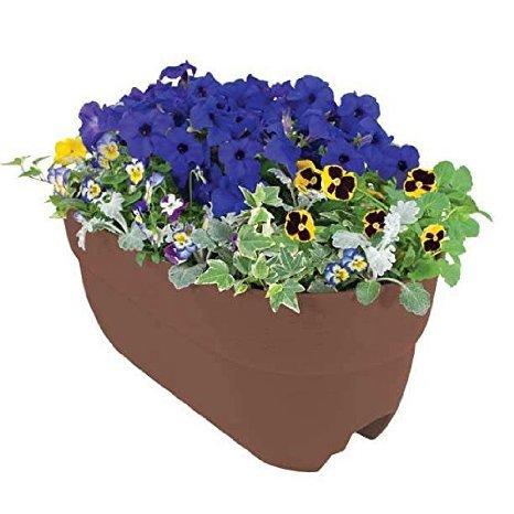 Emsco Group 2445D 24'' Brown Multi Rail Planter by Emsco Group