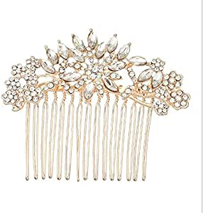Bridal Hair Comb Simple Alloy Crystal Flower Hair Tools Jewelry Findings