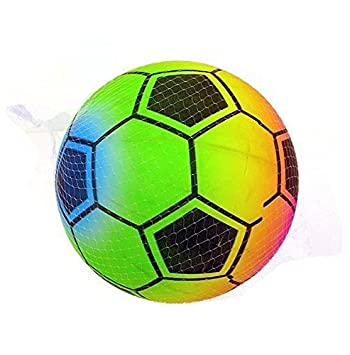 Huggables 3er Packung X Regenbogen Fussball 22cm 8 Und 1 2 Zoll Kinder Neon Gummiball Idealer Spielplatz Spass Oder Party Tasche Filler