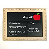 First and Last Day of School Chalkboard, Reusable Sign, Wooden Ruler Frame, Handmade in USA- by Page Brook Market