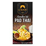 DE SIAM Pad Thai Noodles Kit – Authentic Pad Thai Recipe – Gluten Free – Vegan, Serves 2 (300 g.) – Easy Pad Thai Recipe –Rice Noodles and Pad Thai Sauce included in set