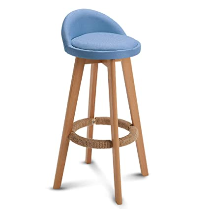 2019 Fashion Modern Simple Pu Bar Chair Household Multi-function Balcony High Stool With Backrest Wooden Stable Safe Front Desk Bar Stool Up-To-Date Styling Bar Chairs