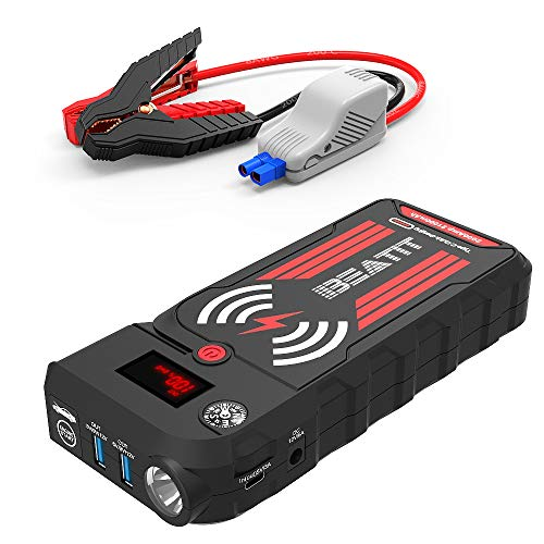 Beatit BT-G18 2000A Peak 21000mAh 12V Portable Car Jump Starter (up to 8.0L Gas and 8.0L Diesel) Auto Battery Booster With Smart Jumper Cables Wireless Charger by Beatit