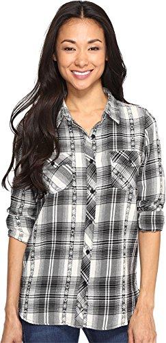 Volcom Junior's Sano Dayz Long Sleeve Flannel, Black, XS