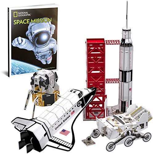 CubicFun National Geographic 3D Puzzles Space Mission Model Kits for Children and Teens with Booklet, DS0971h