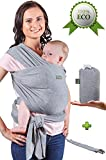 Baby Wrap Carrier - Baby Sling up to 35 lbs - Infant Wrap - Newborn Baby Carrier Sling - Baby Carrier Wrap and Sleepy Wrap for Toddler - Breastfeeding Sling - Perfect Baby Gift Wrap - Organic Cotton