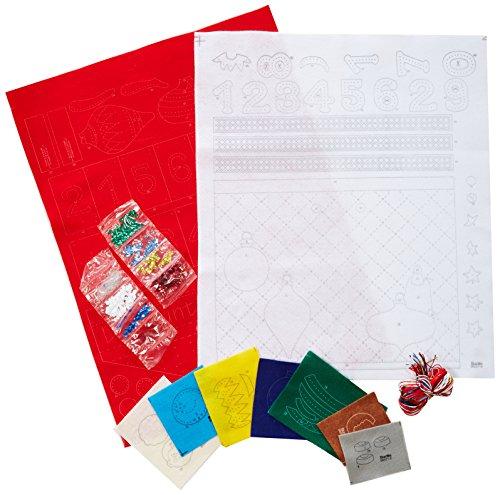 "Bucilla Advent Calendar Felt Applique Wall Hanging Kit, Scount Elf Countdown 14.5 20-Inch, 86551, 14.5"" x 20"""