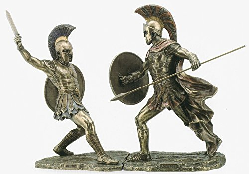 Achilles Hector Unleashed Battle of Troy Statue Sculpture Figurine