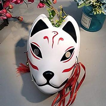 Máscaras De Zorro Japonés Full Cara Pintada A Mano Estilo ...
