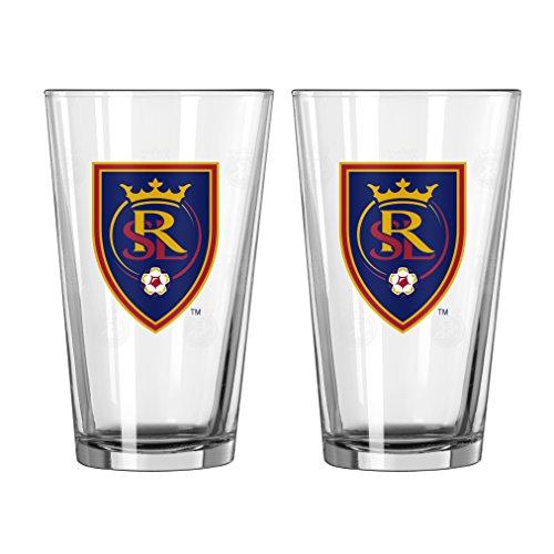 Boelter Brands MLS Real Salt Lake Satin Etch Pint, 16-ounce, 2-Pack by Boelter Brands