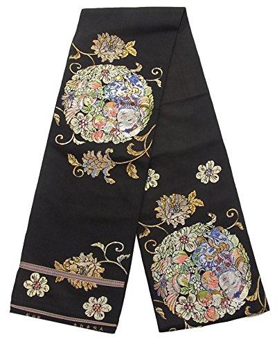 アニメーション抗生物質名詞アンティーク 本袋帯 龍村製 人形手印金 正絹