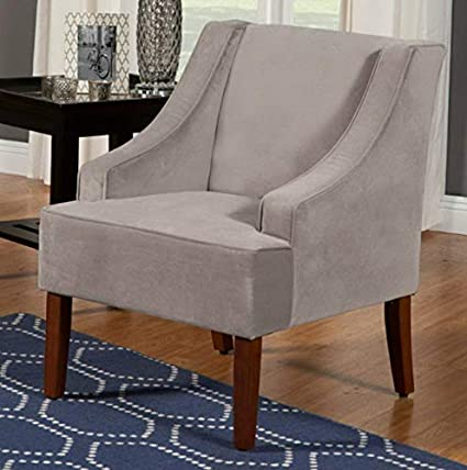 Amazon.com: Hebel Swoop Arm Velvet Accent Chair | Model ...