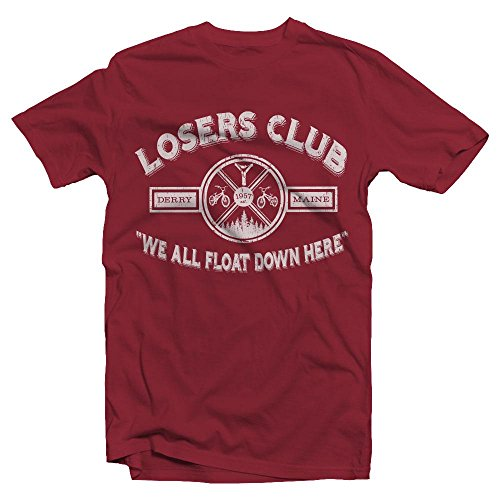 Losers Club | We All Float Down Here | Derry Maine | Distressed IT Look | Movie Fan | Adult Unisex T -