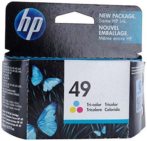 HP 49 Tri-color Original Ink Cartridge (51649A)