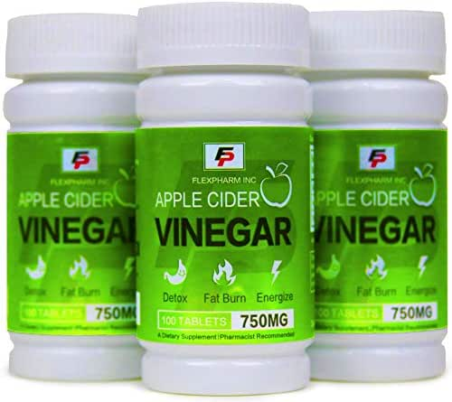 100% Organic Apple Cider Vinegar 750MG- Pharmacist Approved Natural Weight Loss & Healthy Digestion- Fat Burner- Energize- Complete Body Detox