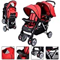 Costway Foldable Double Baby Stroller