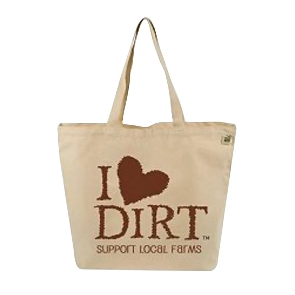 ECO-BAGS TOTE,FARMERS,I LOVE DIRT, CT CASE_10