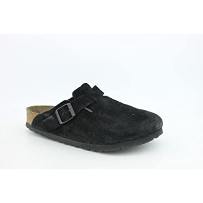 birkenstock boston black suede 37n