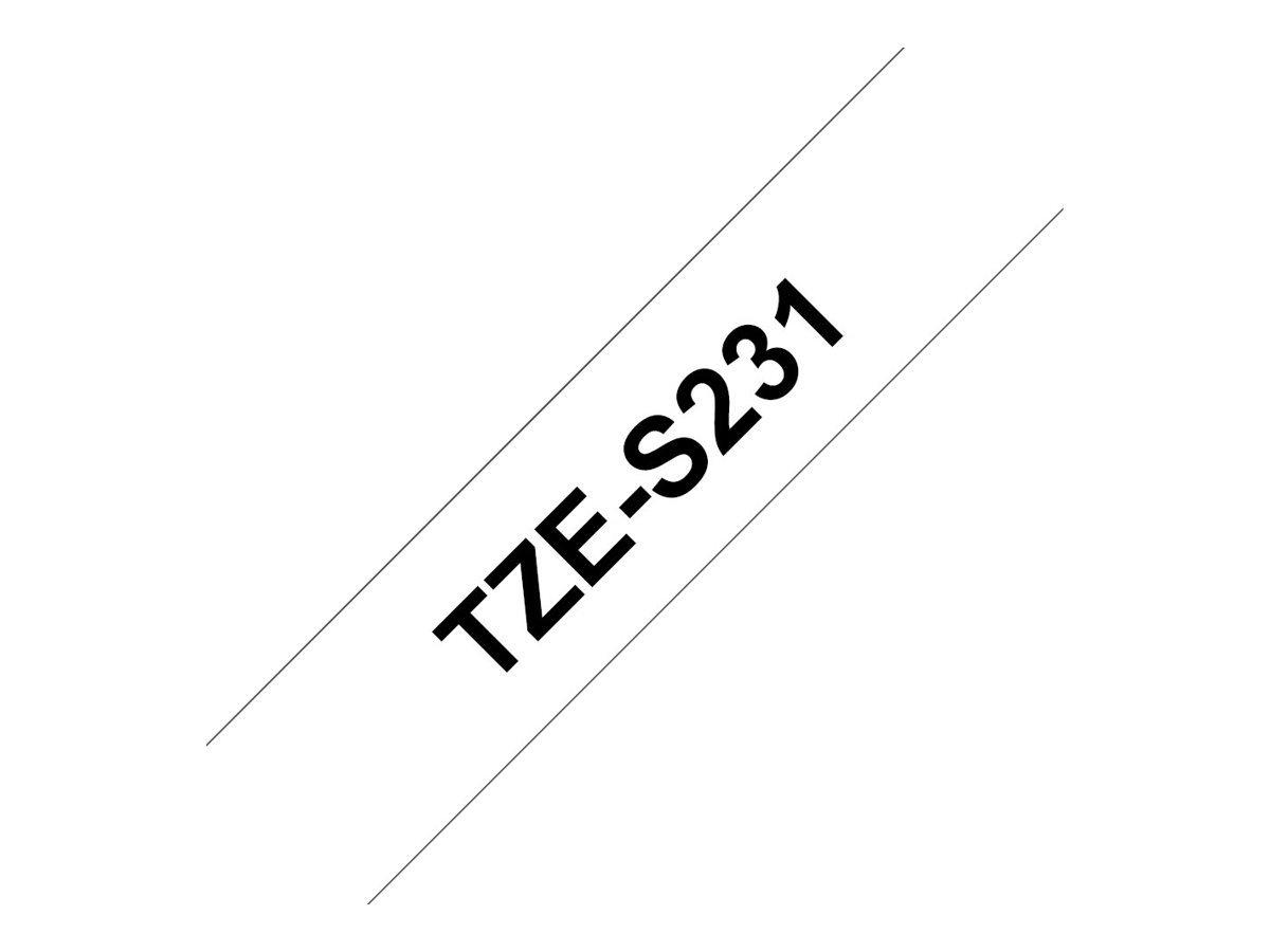 PT Longitud: 8 m Brother TZeS251 Texto negro sobre fondo blanco Ancho: 24 mm Cinta laminada s/úper adhesiva Para rotuladoras Ptouch