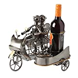 "Cheap BRUBAKER Wine Bottle Holder Statue ""Couple on Motorbike with Dog in Sidecar"" Sculptures and Figurines Decor & Vintage Wine Racks and Stands Gifts Decoration"