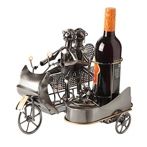 "BRUBAKER Wine Bottle Holder Statue ""Couple on Motorbike with Dog in Sidecar"" Sculptures and Figurines Decor & Vintage Wine Racks and Stands Gifts Decoration Review"
