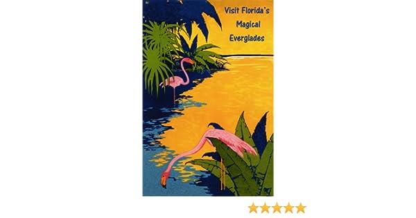 Pink Flamingo Visit Florida Magical Everglades USA 16X20 Vintage Poster FREE S//H