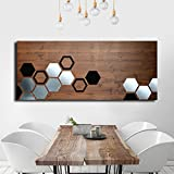 Mod Honeycomb by ModWoodArt - Wood Wall Art, Metal Wall Art, Modern Wall Art, Wall Decor, Modern Painting, Geometric Art