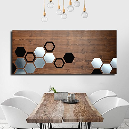 Amazon.com: Mod Honeycomb by ModWoodArt - Wood Wall Art, Metal Wall ...