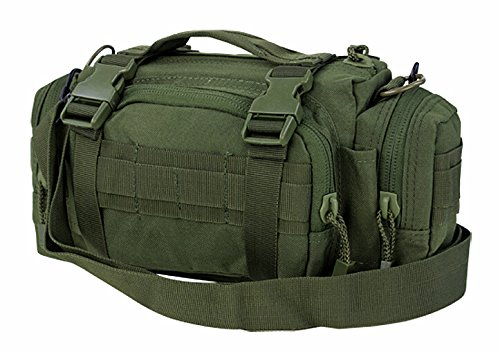 FIRECLUB Army Green Deployment Waist Chest Pack Outdoor Military Duffle Tactical Assault Combined Backpack Rucksack Sport Molle Camping Trekking Messenger Crossbody single Shoulder Bag +6 Key Buckle