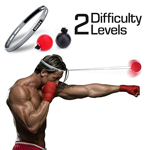Origin Labs Boxing Reflex Ball - Headband and Boxing Punch Ball with 2 Difficulty Levels for Training Speed, Reaction Time, and Hand Coordination (Reactions Lab)
