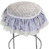 Upscale Velvet Art Round Seat Cushion Round chair cushion Baby rounded pad slip Chair Seat Student Thickened Round Pad Bar Stool Mat (style1, light gray)
