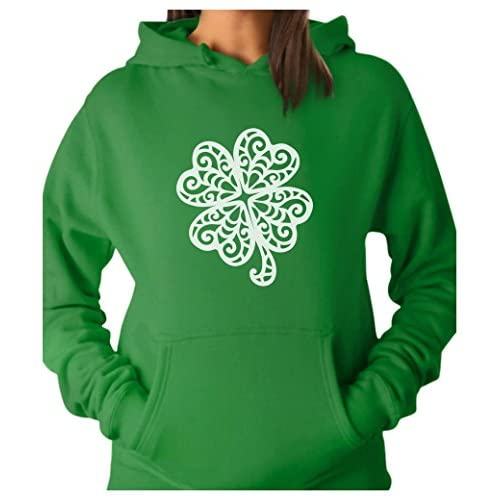 8004637a durable service TeeStars - Lace Clover Print For St. Patrick's Day Irish  Shamrock Women Hoodie