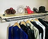 52'' Garment Rack, Shelf Rack, Clothing Rack, Industrial Decor, Steampunk Decor, Store Rack, Store Shelf, Store Display, Closet Organizer