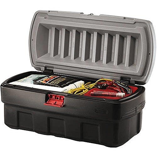 - ActionPacker Storage Containers, 48 gal, 17.156 x 20 1/2 x 43 3/4, Black