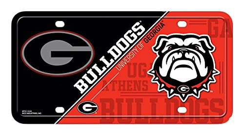 NCAA Georgia Bulldogs Metal License Plate Tag