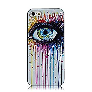 5S Case iPhone 5S Case Sunshine Case iPhone 5 Case iPhone 5 Cell Phone Case iPhone 5S Coloful Painted PC Hard Protective Case for iPhone 5 Cover Shell - Eye