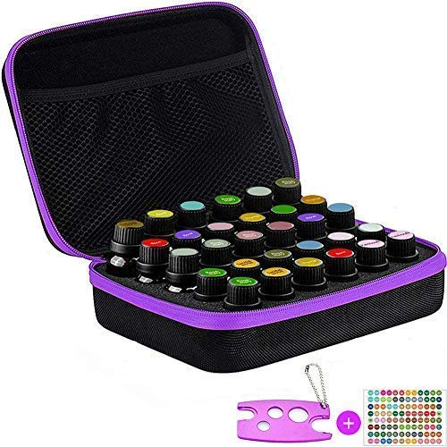Essential Oil Carrying Case- Mother's Day Gift - Essential Oils Traveling Case Holds 5/10/15 ml - Premium Protection for Roller Bottles - Hard Shell Case Protects up to 30 Bottles ()