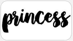 Princess - 500 Stickers Pack 2.25 x 1.25 inches - Queen Crown Royal Party Favor