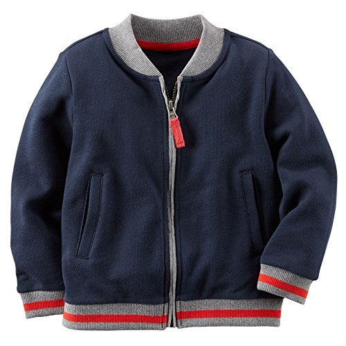 Carter's Boy's Navy French Terry Varsity Jacket (12 Months)