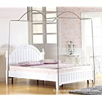 Arched Canopy Bed Mosquito Netting Stainless Steel Frame (FULL/QUEEN)