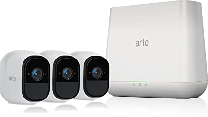 amazon com arlo pro wireless home security camera system witharlo pro wireless home security camera system with siren rechargeable, night vision,