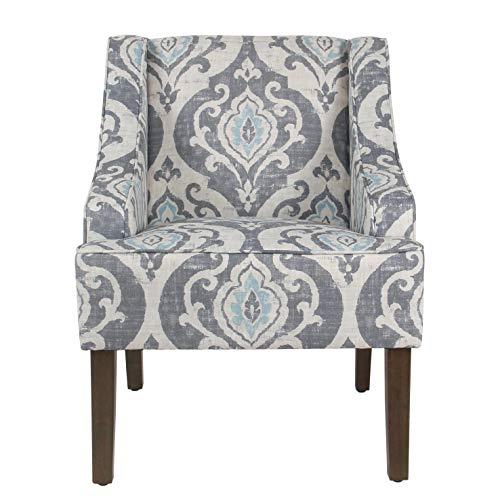 HomePop Suri Blue Classic Swoop Accent Chair