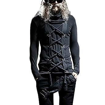 Amazon.com: Men Punk Rock Gothic Style Tees Shirts Male