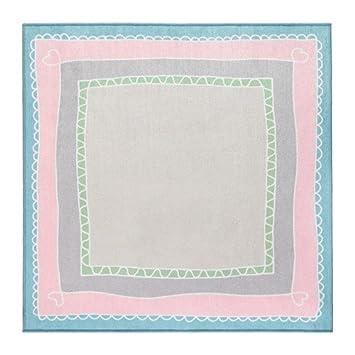 Ikea väns kaplig Alfombra infantil, en color rosa/turquesa; (133 x 133 cm): Amazon.es: Hogar