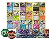 100 Pokemon Cards - Including Rares Foils Plus a GX Ultra Rare and Custom GX Counter
