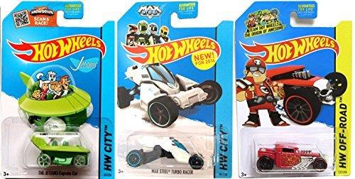 Cartoon Cars Max Steel Turbo Racer Jetsons & Team Hot Wheels Bone ...