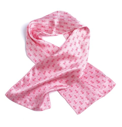 - Breast Cancer Awareness Silk Scarf, Pink