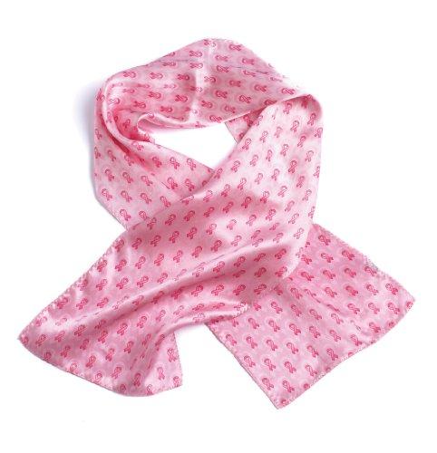 Breast Cancer Awareness Silk Scarf, (Breast Cancer Scarf)
