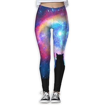 Amazon.com: MARO&NG Leggings Yoga Pantalones Niñas Gato en ...
